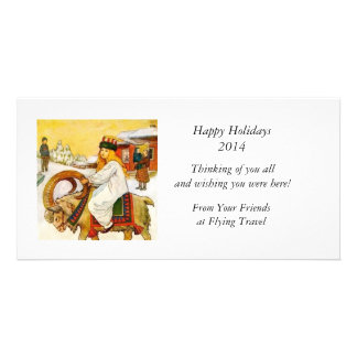 Lucia Rides the Jul Goat Card