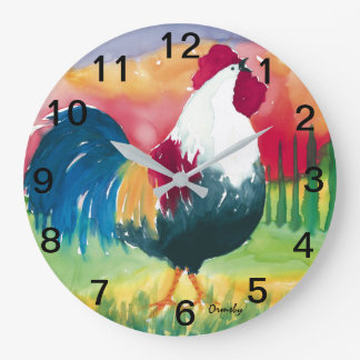 Luciano Rooster -Wall Clock
