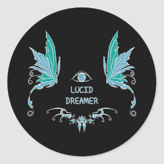 Lucid dreaming sticker design.