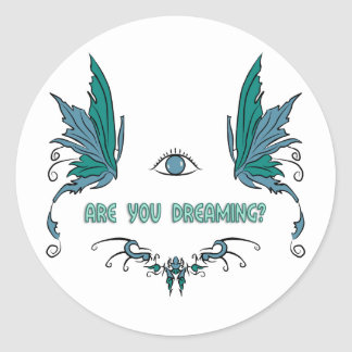 Lucid dreaming sticker reminder design.