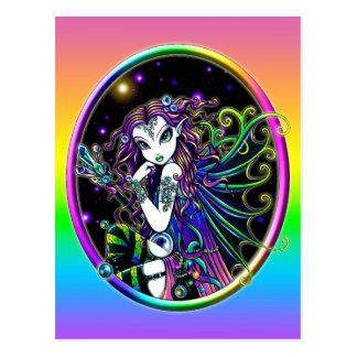 """""""Lucidia"""" Celestial Crystal Rainbow Fairy Postcard"""