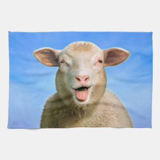 Lucie the sheep kitchen towel