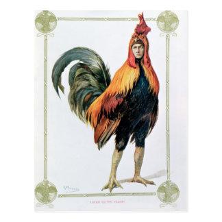Lucien Guitry  in 'Chantecler' Postcard