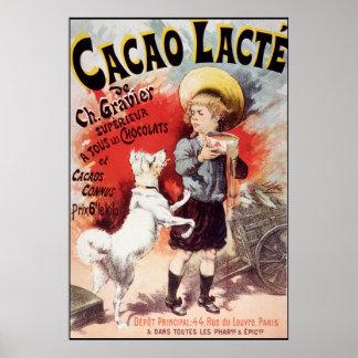Lucien Lefevre Cacao Lacte Poster