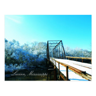 Lucien, Mississippi Iron Bridge Postcard