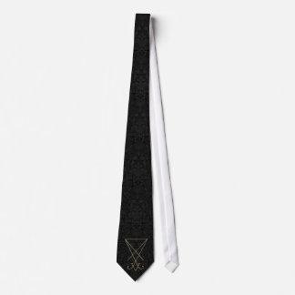 Lucifer Alchemy Sigil Gothic Art Tie