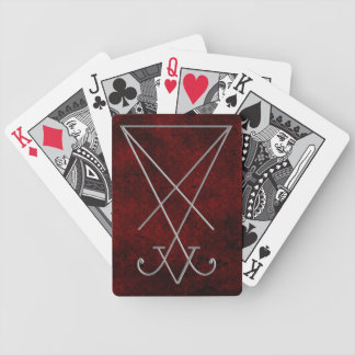 Lucifer Sigil Alchemy Goth Art Bicycle Playing Cards