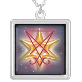 lucifer silver plated necklace