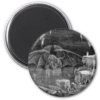 Lucifer Vintage Woodcut Engraving Goth Art Magnet