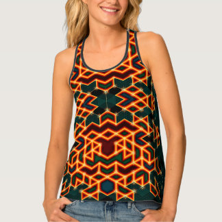 Luciferin - All-Over Print Tank Top by Vibrata