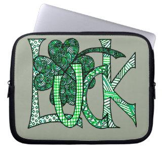 Luck 1 laptop sleeve