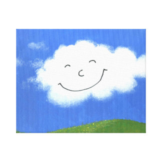Luck cloud, which laughs at you canvas print