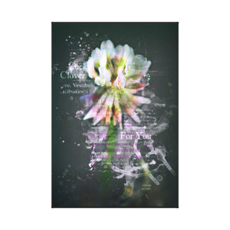"Luck clover, ""Lucky Clover"". Flower. Art Canvas Print"