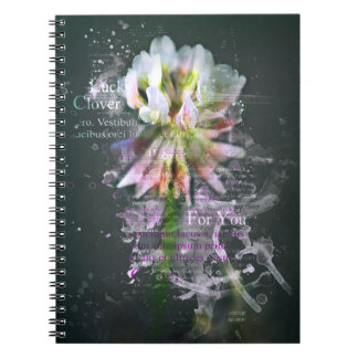 """Luck clover, """"Lucky Clover"""". Good Luck. Notebook"""