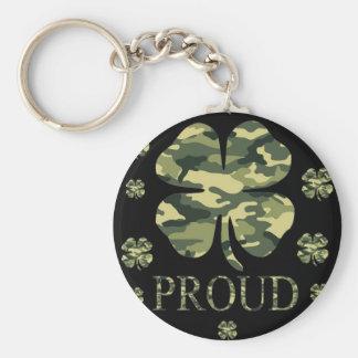 Luck Irish Four leaf clover - Camouflage Keychain