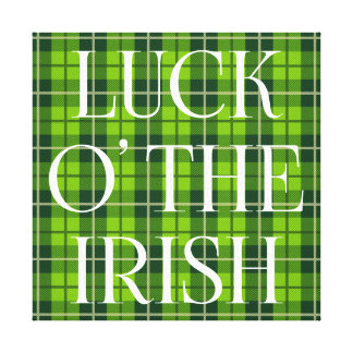 Luck O' The Irish Plaid Canvas Print