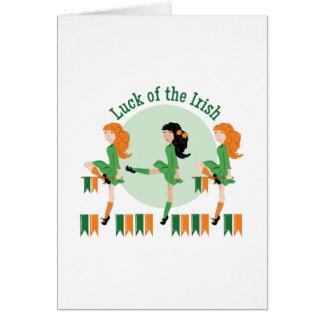 Luck Of Irish Card
