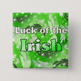 Luck of the Irish 2 Inch Square Button
