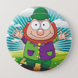 Luck of the Irish 4 Inch Round Button