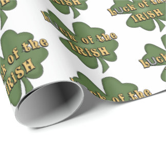 Luck Of The Irish clover party wrap Wrapping Paper