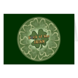 Luck of the Irish Clover Saint Patrick's Day Card