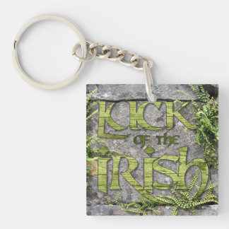 Luck of the Irish Green St Patrick's Day Key Chain Square Acrylic Keychain