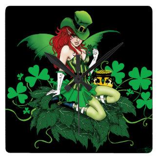 Luck of the Irish Square Wall Clock