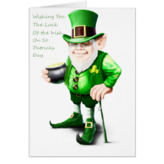 Luck of the Irish St patrick;s Day Card