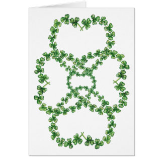 Luck of the Irish, St Patrick's Day, 4 Shamrocks Card