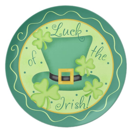 Luck of the Irish St. Patrick's Day Celebration Plate