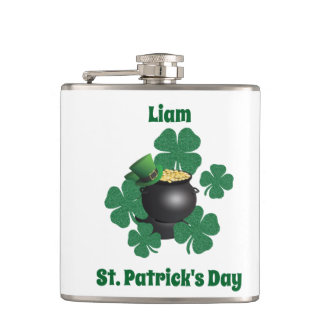 Luck Of The Irish  St Patrick's Day Hip Flask