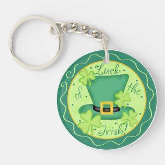 Luck of the Irish St. Patrick's Day Keychain Round Acrylic Keychain