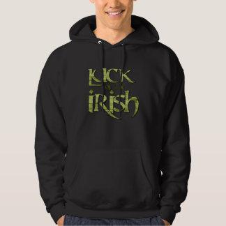 Luck of the Irish St. Patrick's Day Typographic Hoodie