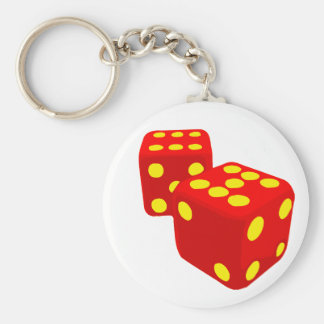 Lucked Out Dice Keychain