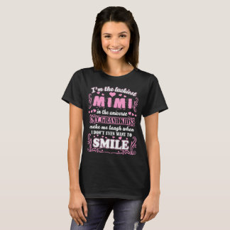 Luckiest Mimi In Universe Grandkids Make Smile T-Shirt
