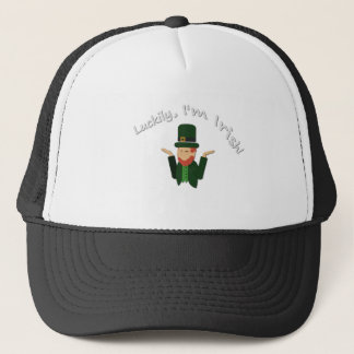 Luckily Im Irish T-shirt Trucker Hat