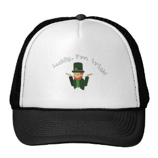 Luckily Im Irish T-shirt Trucker Hat
