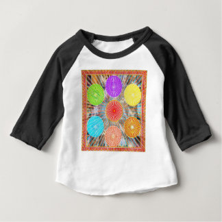 LUCKY7 Blessings Goodluck Chakra Rounds Circles Baby T-Shirt