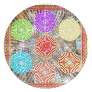 LUCKY7 Blessings Goodluck Chakra Rounds Circles Dinner Plates