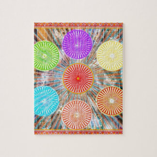 LUCKY7 Blessings Goodluck Chakra Rounds Circles Jigsaw Puzzle