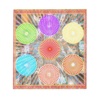 LUCKY7 Blessings Goodluck Chakra Rounds Circles Notepad