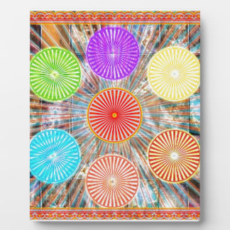 LUCKY7 Blessings Goodluck Chakra Rounds Circles Plaque