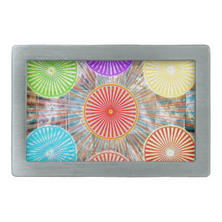 LUCKY7 Blessings Goodluck Chakra Rounds Circles Rectangular Belt Buckles