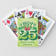 Lucky 25 Custom Playing Cards