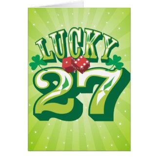 Lucky 27 Birthday Card