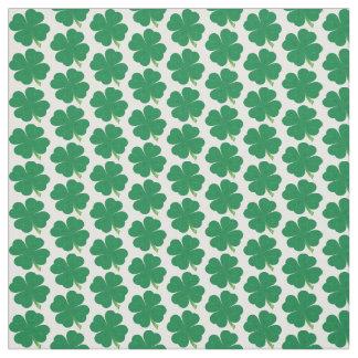 Lucky 4 Leaf Clover Fabric