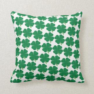Lucky 4 Leaf Clover Throw Pillow