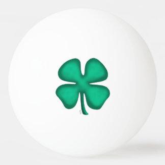 Lucky 4 Leaf Irish Clover 3-star ping pong ball