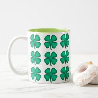 Lucky 4 Leaf Irish Clover coffee mug
