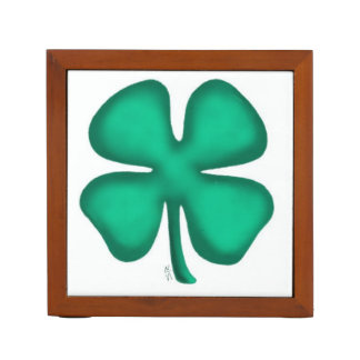 Lucky 4 Leaf Irish Clover desk organizer